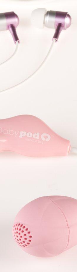 Der Babypod bringt die Musik zum Fötus