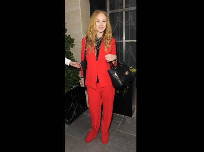 Juno Temple auf der London Fashion Week