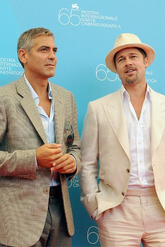 Hollywoodstars George Clooney und Brad Pitt