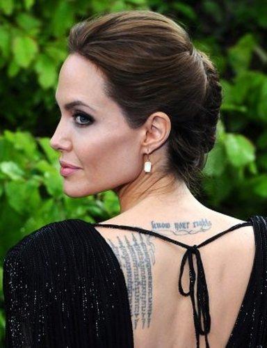 Angelina Jolie: Elegante Hochsteckfrisur