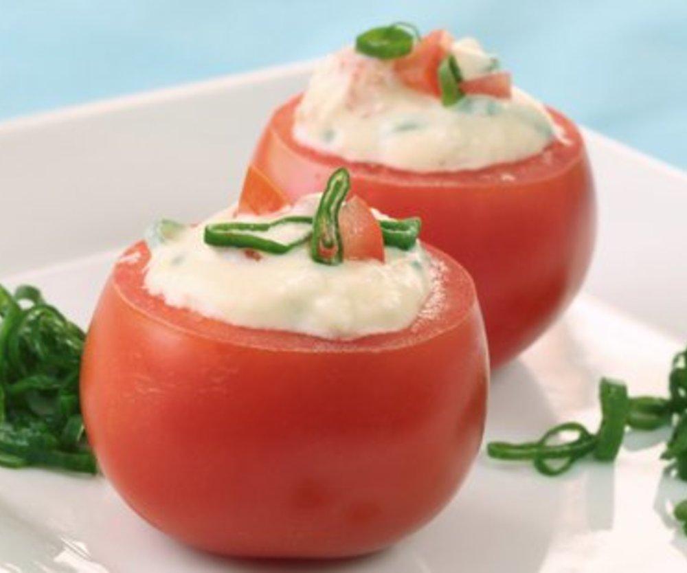 Gefüllte Tomaten mit Frischkäse