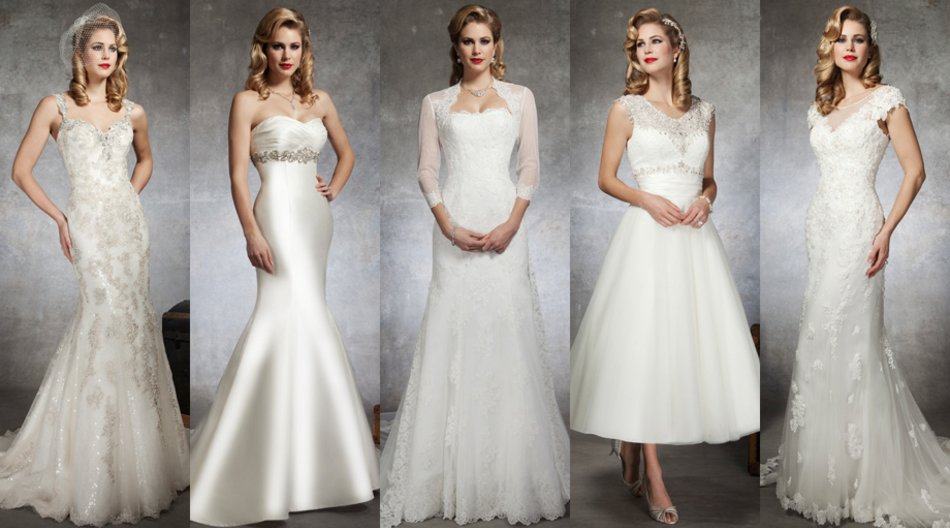 Weiße Brautkleider