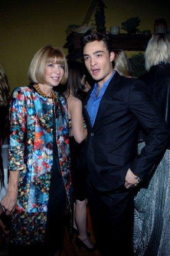 Ed Westwick mit Anna Wintour 2010