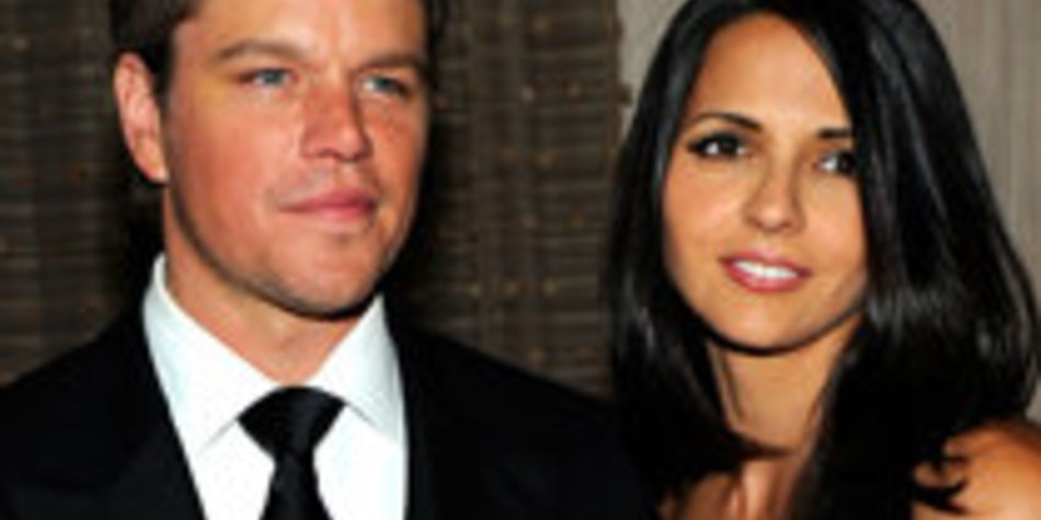 Matt Damon: Seine Frau Lucia managet die ganze Familie
