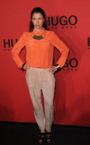 Jana Pallaske auf der Fashion Week 2012