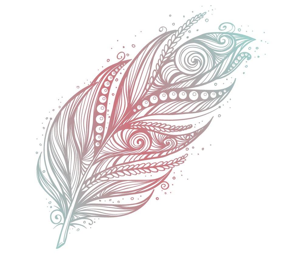 Feder-Tattoo Vorlagen