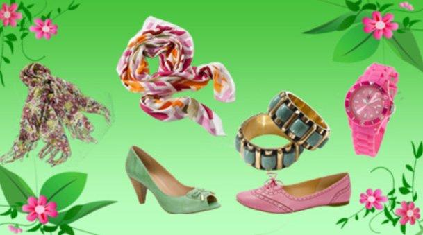 Schuhe von Via Uno, Tücher, Schmuck und Uhr von Otto