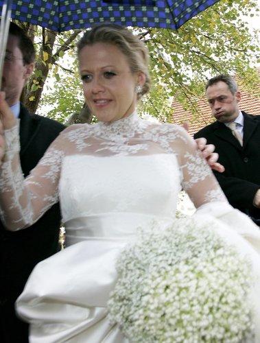 Barbara Schöneberger auf ihrer Hochzeit