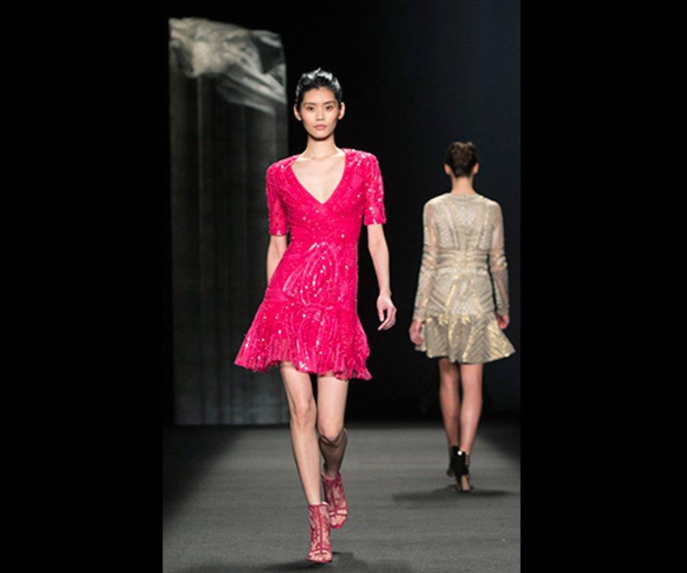 Kleid Pink Monique Lhuillier