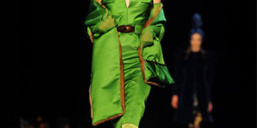 Gaultier: grünes Kleid