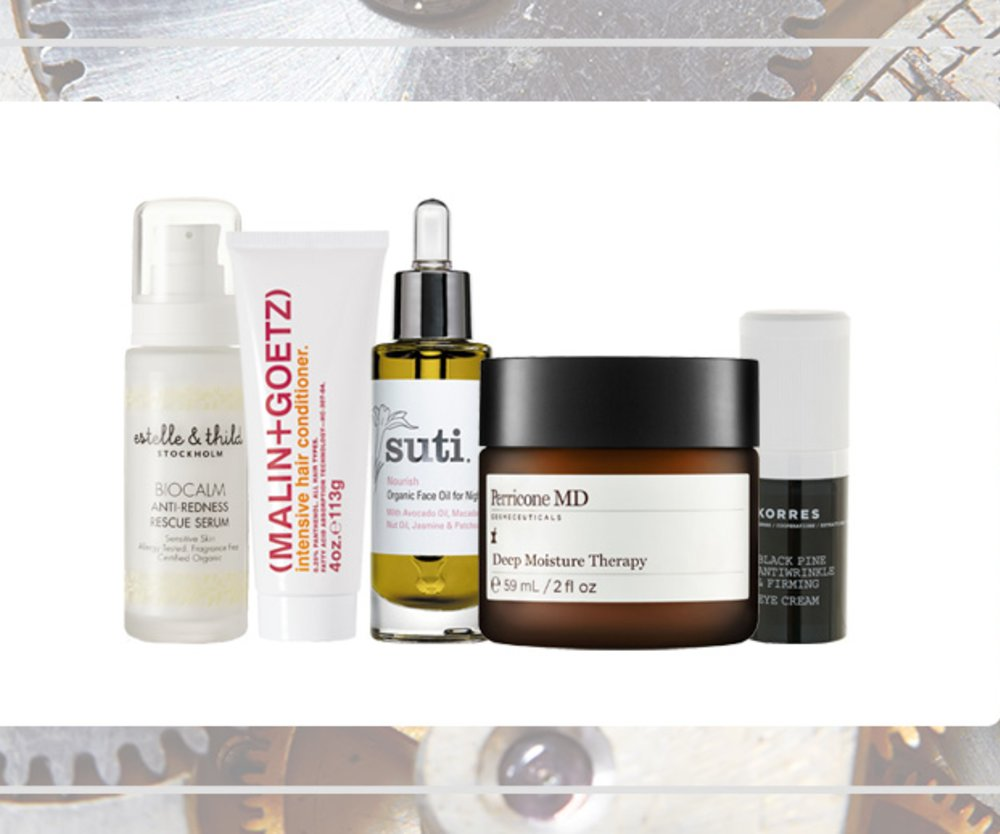 Korres, Perricone MD, Malin + Goetz, Estelle & Thild, Suti Skincare