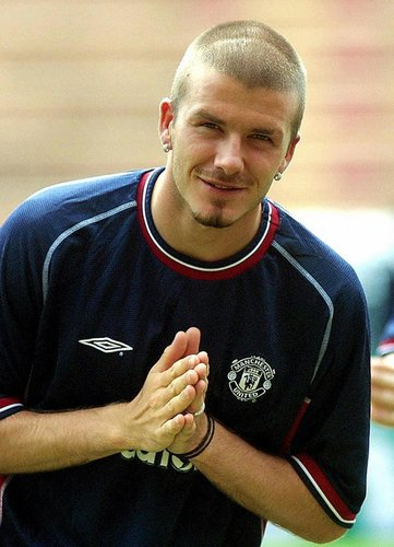 David Beckham in Thailand im Jahr 2001