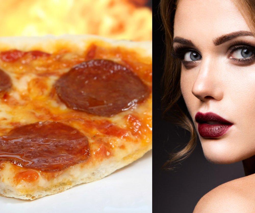 Lippenstift mit Pizzafett entfernen? Soll klappen!
