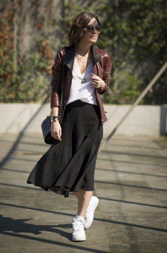 Eine Besucherin der Istanbul Fashionweek
