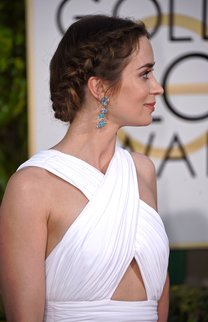 Emily Blunt: Geflochtener Haarkranz