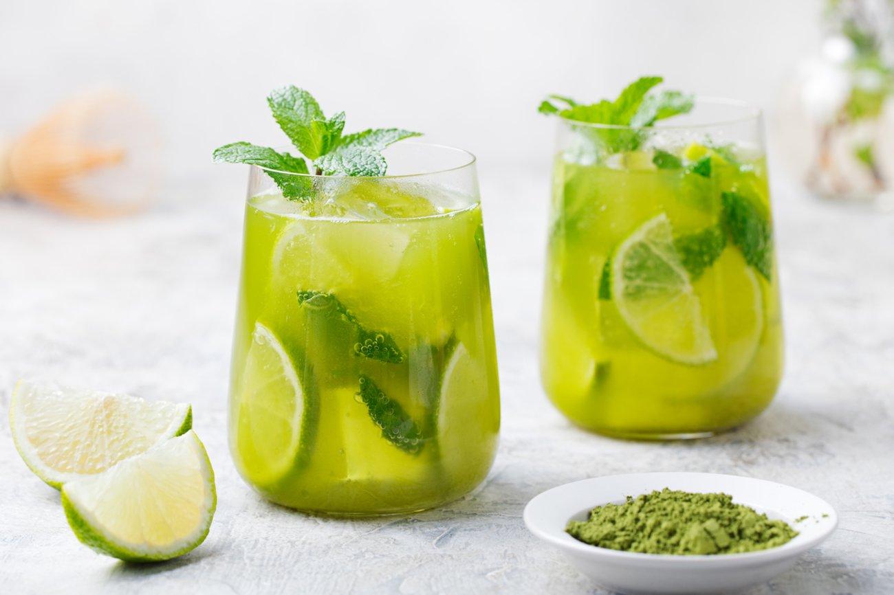 Bauchfett abnehmen Getränke Grüner Tee