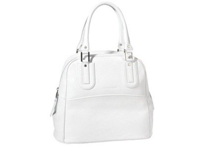 Handtasche von Longchamp in Weiß aus der Sommerkollektion 2009.