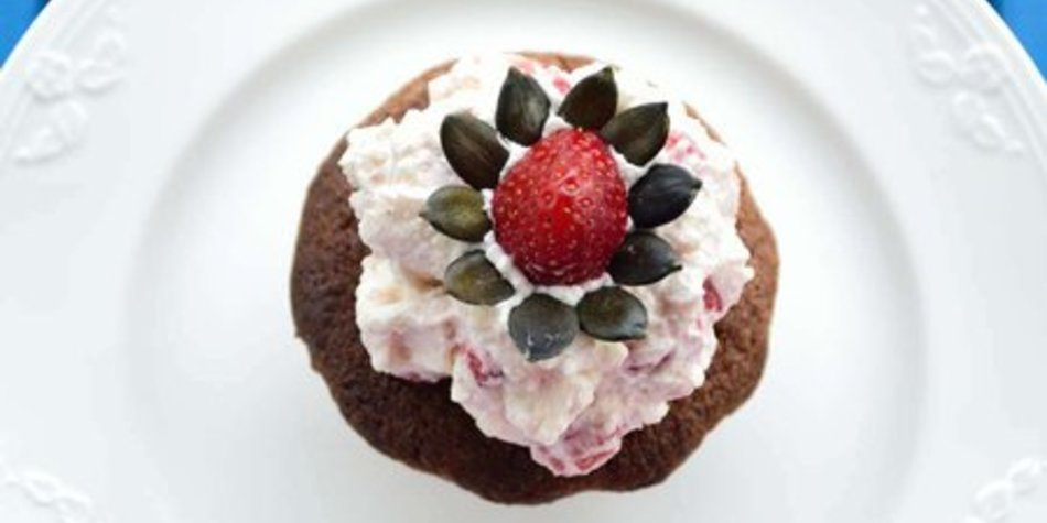 Frühlingsgruß aus Spanien: Mandel-Cupcakes mit Sahnequark-Topping