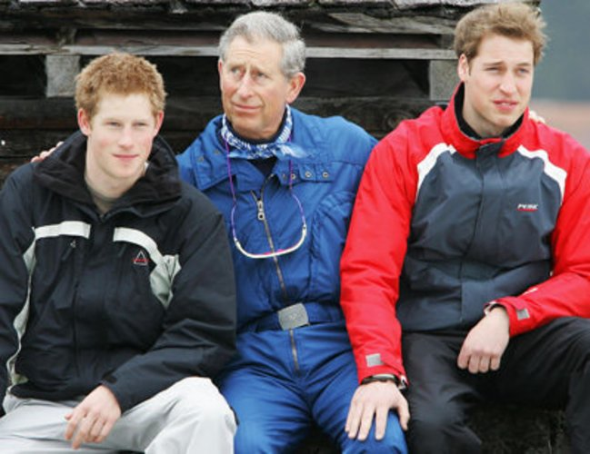 Prinz William, Prinz Harry und Prinz Charles