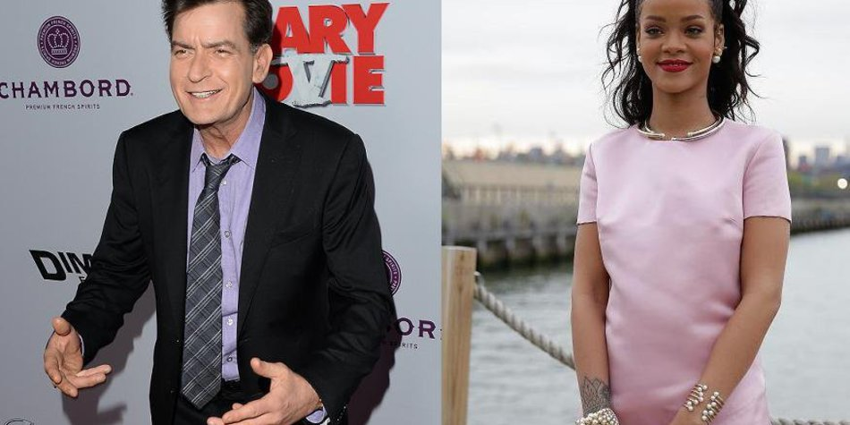Rihanna und Charlie Sheen im Clinch