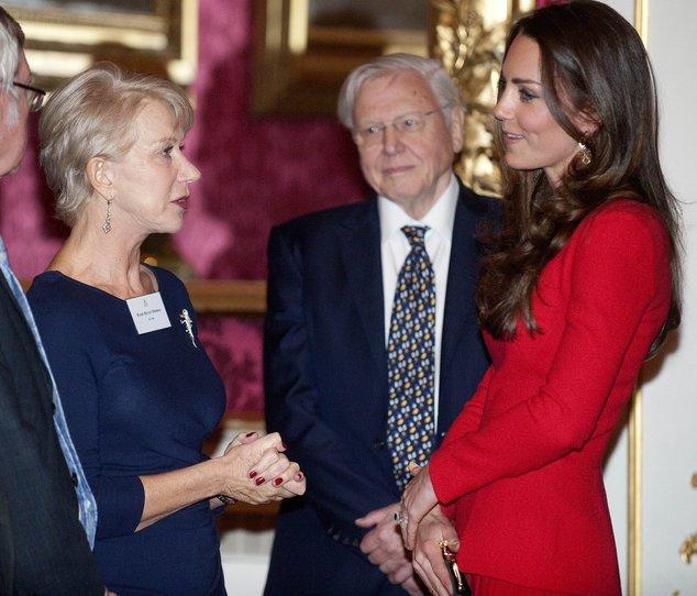 Kate Middleton und Helen Mirren