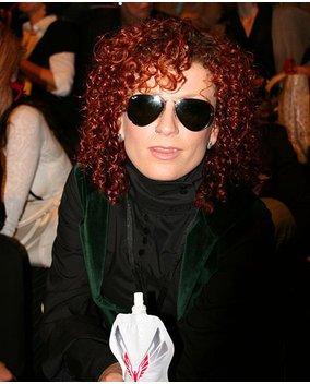 Lucy von den No Angeld auf der Fashion Week.