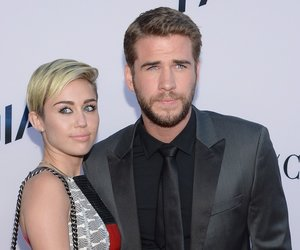 """LOS ANGELES, CA - AUGUST 08: Miley Cyrus and Liam Hemsworth attend the premiere of Relativity Media's """"Paranoia"""" at DGA Theater on August 8, 2013 in Los Angeles, California. (Photo by Jason Kempin/Getty Images)"""