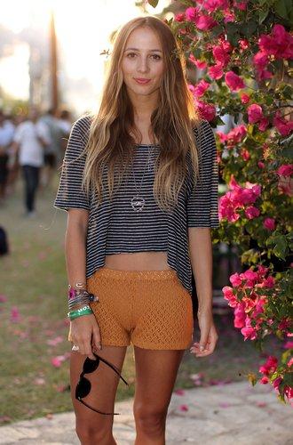 Harley Viara Newton beim Coachella-Festival