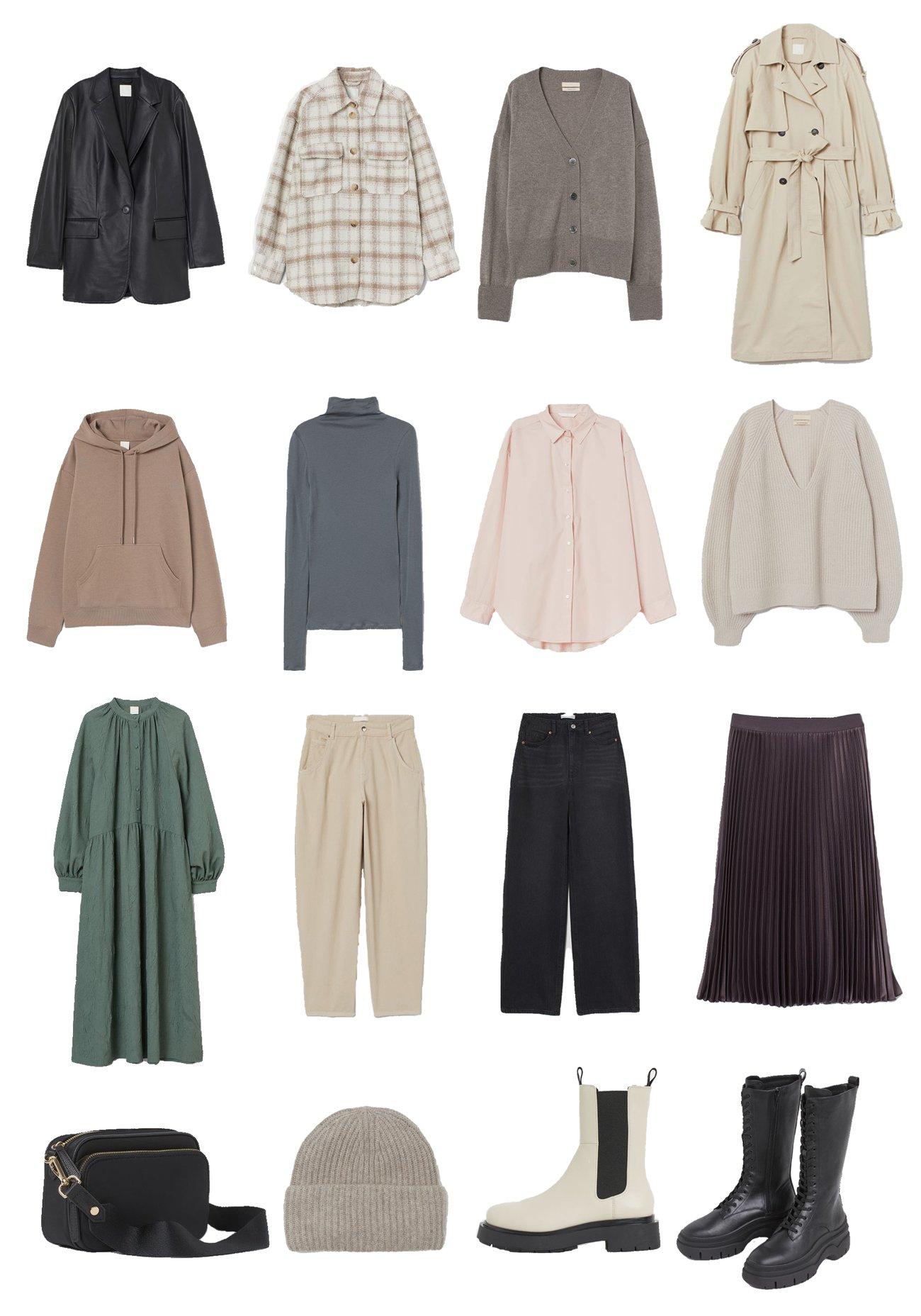 Herbst Capsule Wardrobe H&M