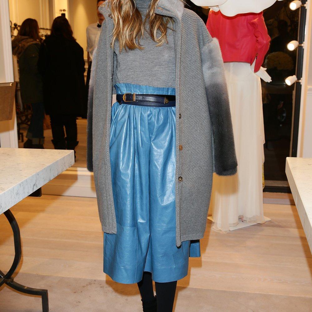 Als Fashionista trägt natürlich auch Olivia Palermo einen Midirock (GettyImages/Vittorio Zunino Celotto)