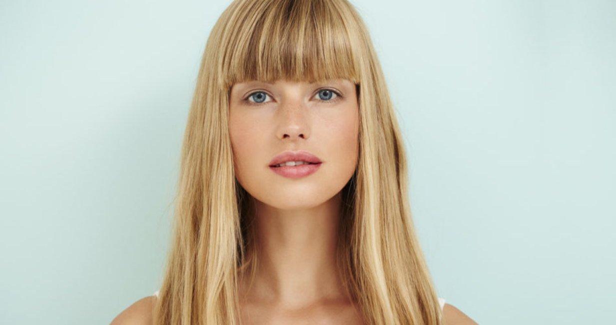 Mit strähnen hellblonden haare blonde Dunkelblonde haare
