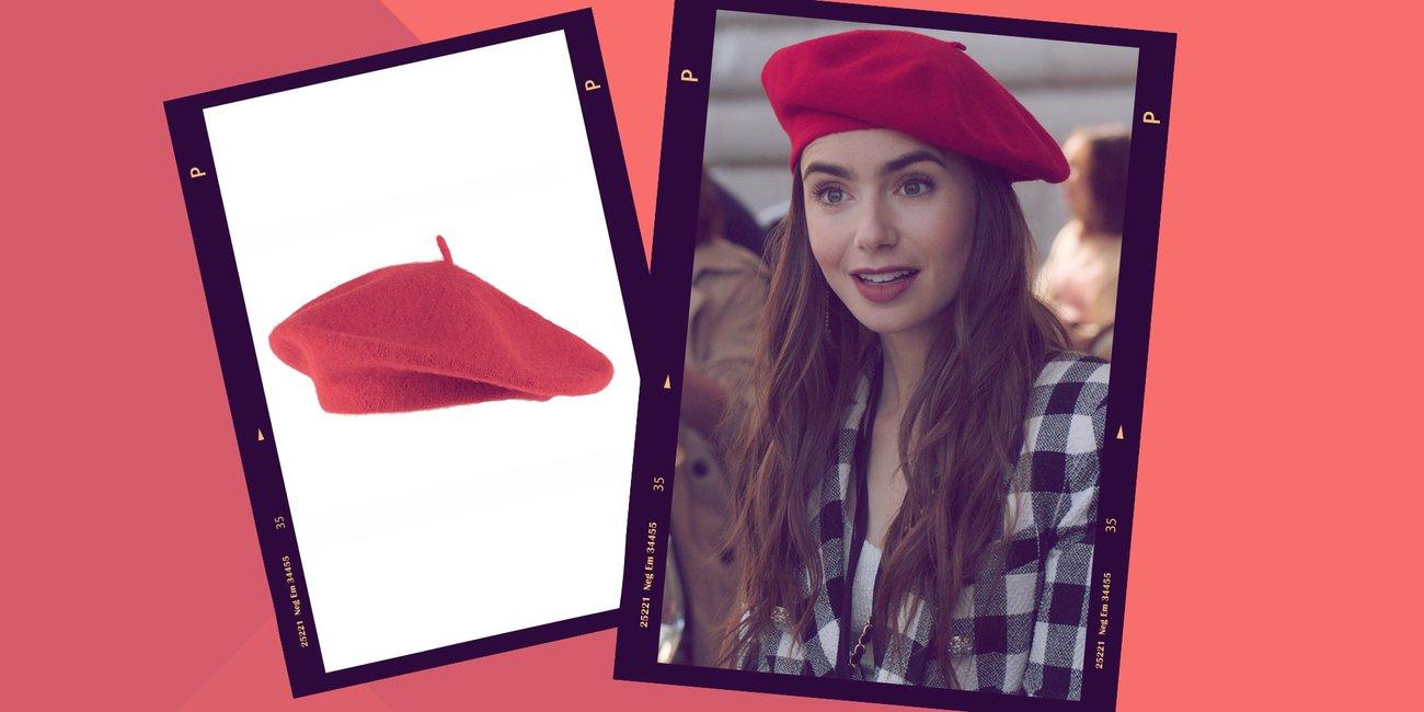 Emily in Paris Baret Rot