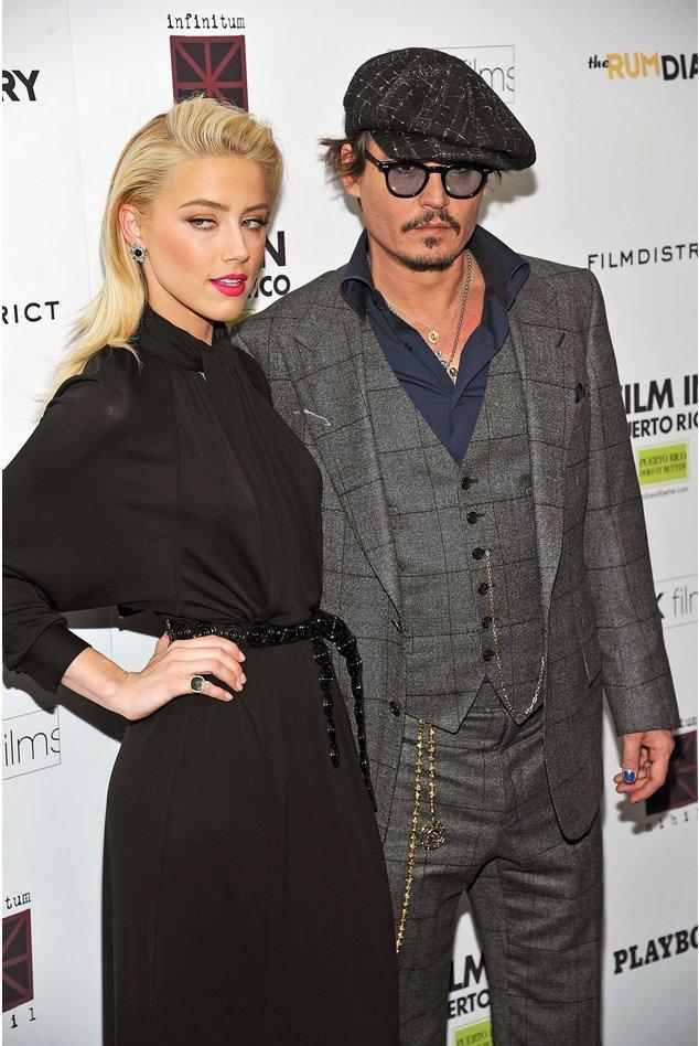 Johnny Depp und Amber Heard sollen die ganze Zeit über zusammen gewesen sein