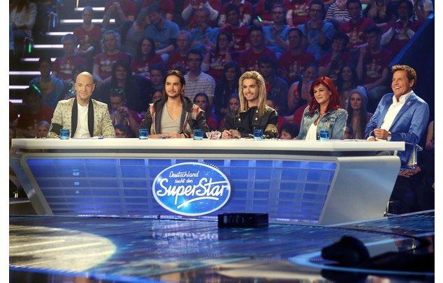 DSDS-Jury beim Auftritt der Top 4