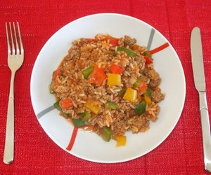 Paprika-Reis-Pfanne mit Hackfleisch