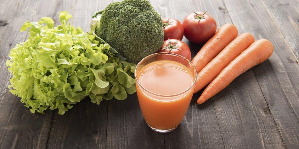 Gemüsesaft: Gesundheit, die aus der Flasche kommt