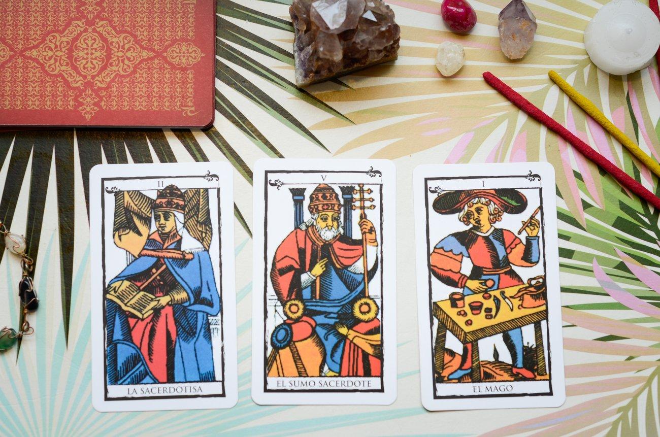 Tarotkarten drei Karten