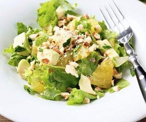 Grüner Salat mit Orangen