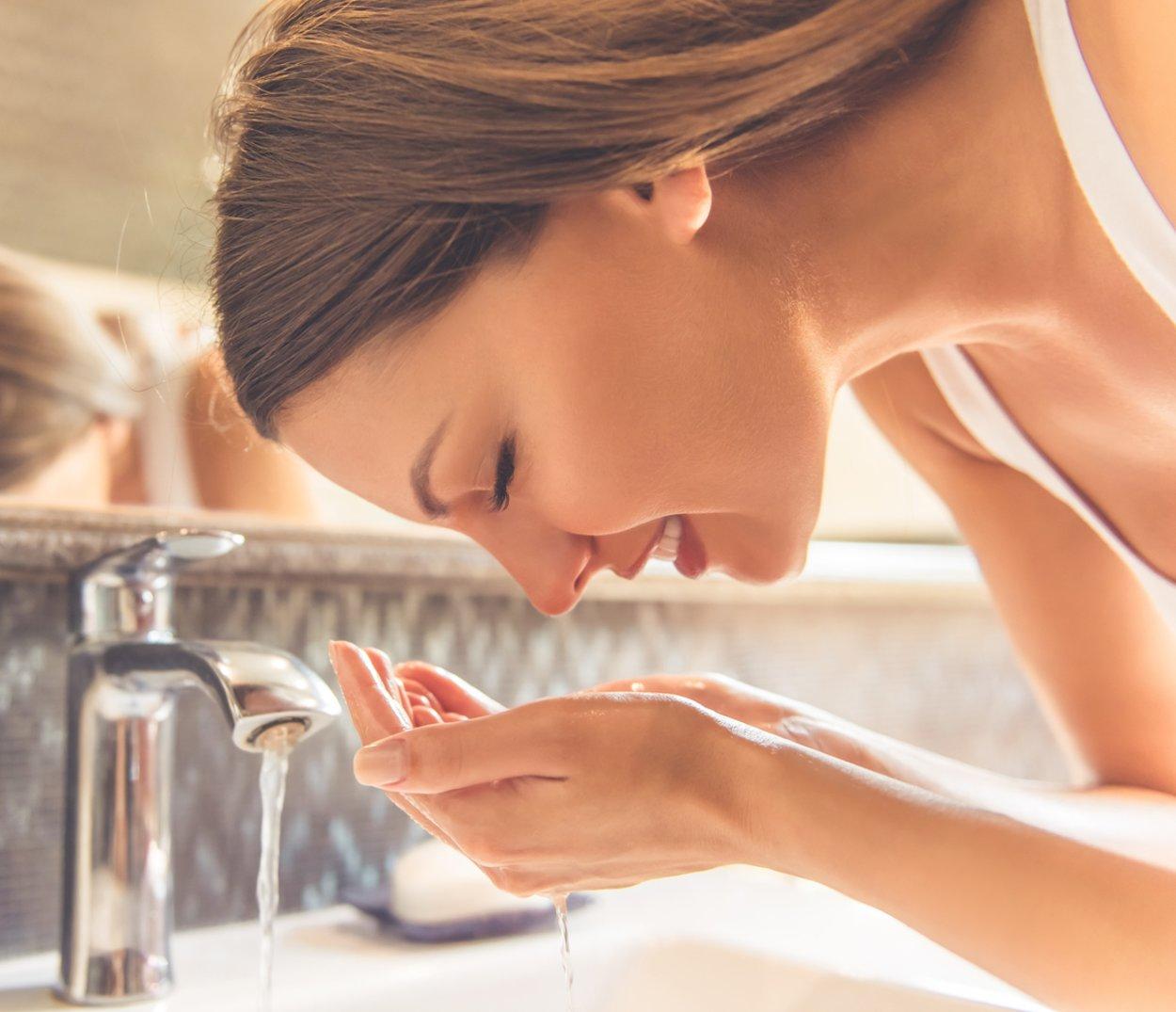 Pickeln vorbeugen Hautpflege