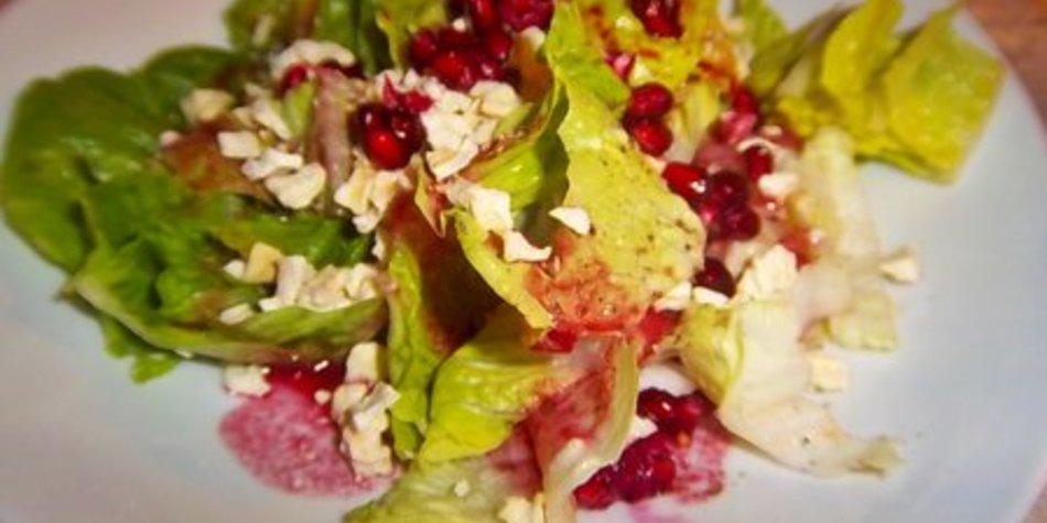 Salatherzen mit Apfelduett