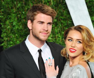WEST HOLLYWOOD, CA - FEBRUARY 26: Actor Liam Hemsworth(L) and actress/singer Miley Cyrus arrive at the 2012 Vanity Fair Oscar Party hosted by Graydon Carter at Sunset Tower on February 26, 2012 in West Hollywood, California. (Photo by Alberto E. Rodriguez/Getty Images)