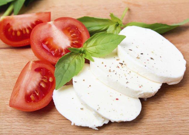 Mozzarella in der Schwangerschaft: Mozzarella mit Tomaten