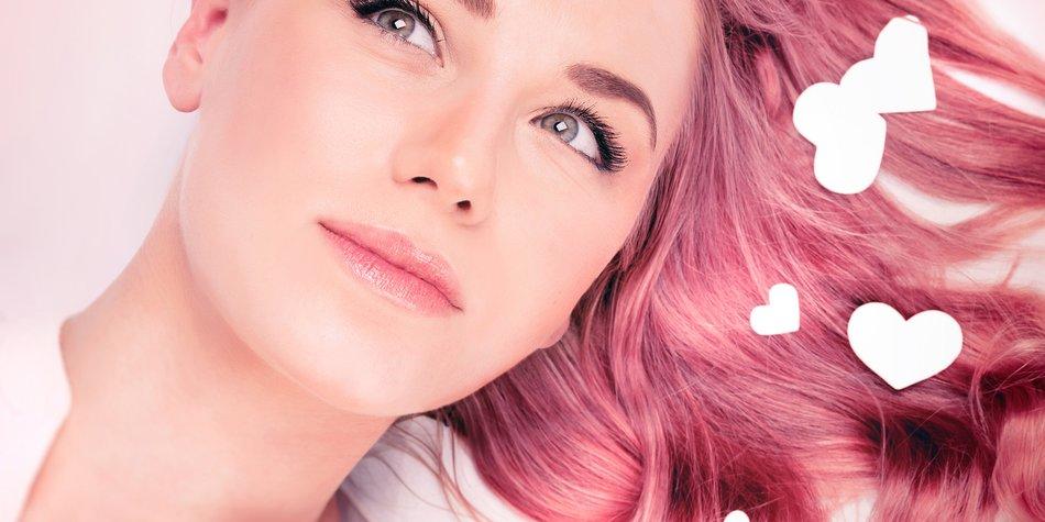 Haare rosa färben
