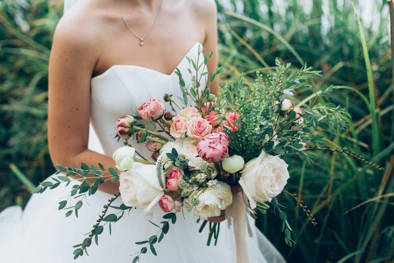 Petersilienhochzeit Geschenke Blumenstrauß