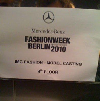 IMG Modelcasting auf der Fashion Week Berlin.