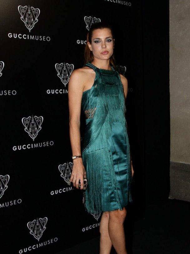 Charlotte Chasiraghi bei der ERöffnung des Gucci Museo