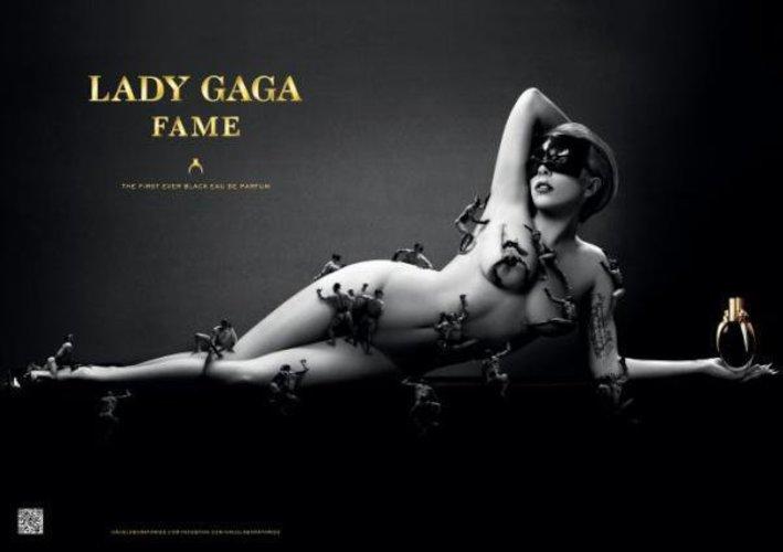 Lady Gaga auf dem Plakat für