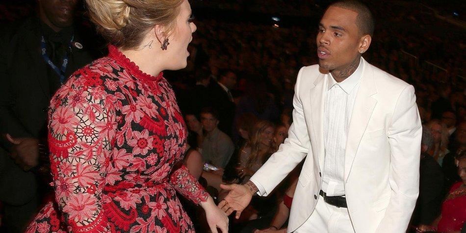 Adele: Streit mit Chris Brown bei den Grammys?