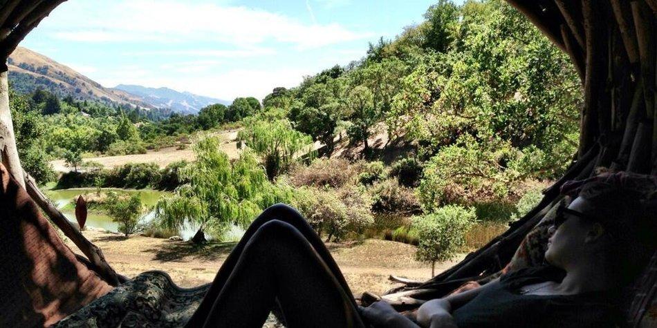 Lea Michele verbringt den Labor Day in der Natur