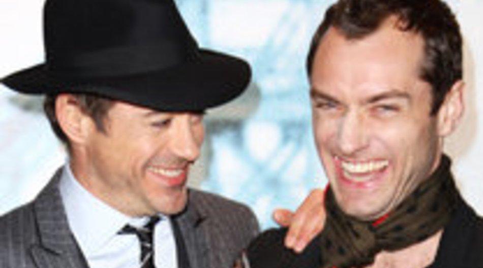 Jude Law und Robert Downey Jr. ganz vertraut